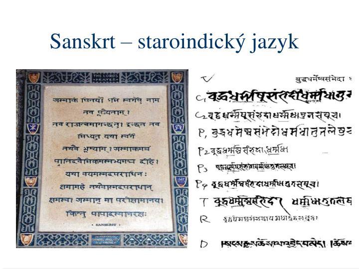Sanskrt – staroindický jazyk