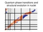 quantum phase transitions and structural evolution in nuclei