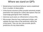 where we stand on qpts