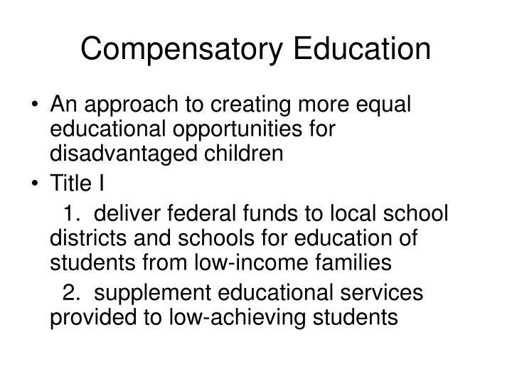 Compensatory Education