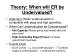 theory when will er be undervalued