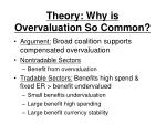 theory why is overvaluation so common