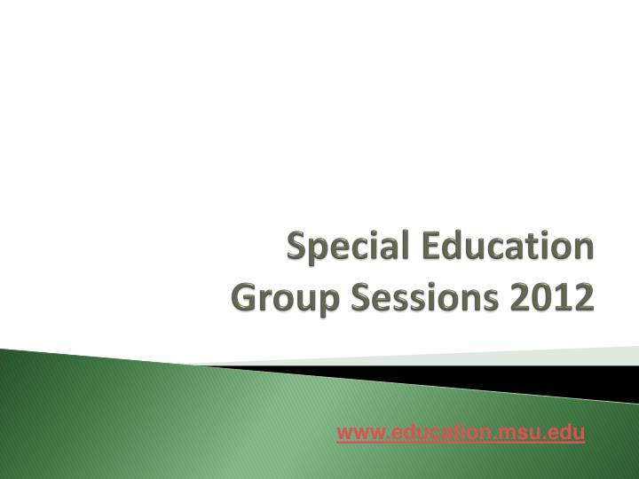 special education group sessions 2012 n.