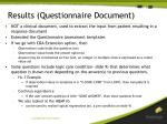 results questionnaire document