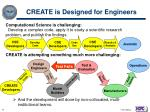 create is designed for engineers