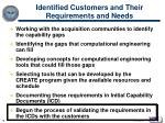 identified customers and their requirements and needs
