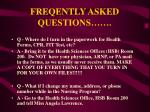 freqently asked questions4
