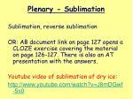 plenary sublimation