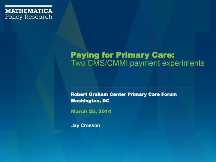 paying for primary care n.
