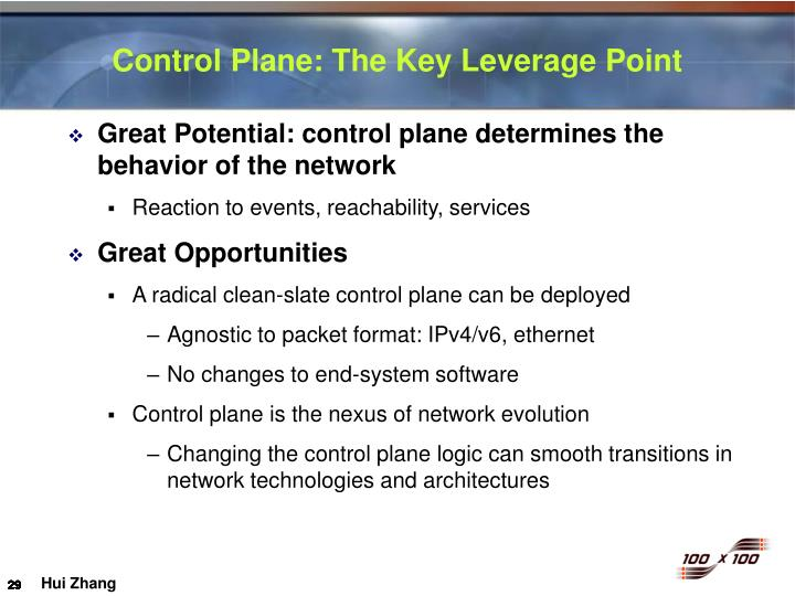 Control Plane: The Key Leverage Point
