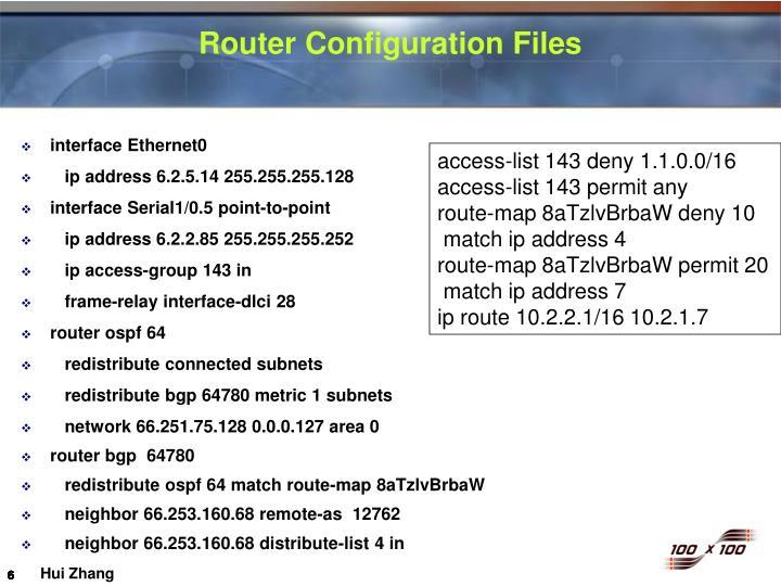 Router Configuration Files