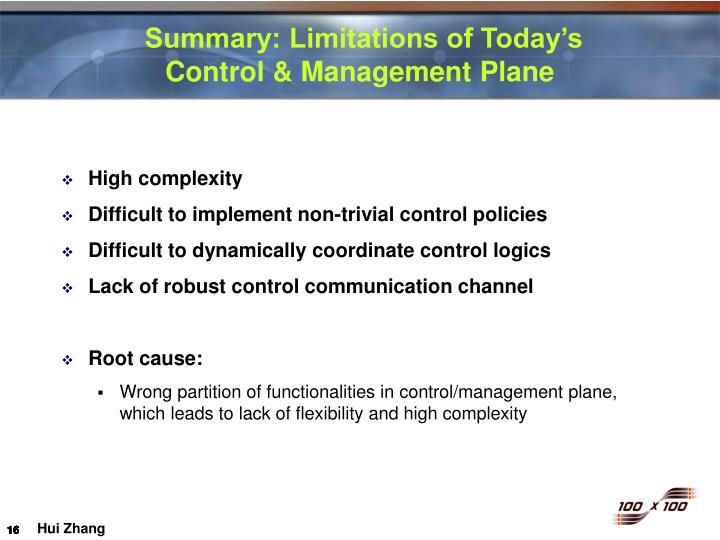 Summary: Limitations of Today's