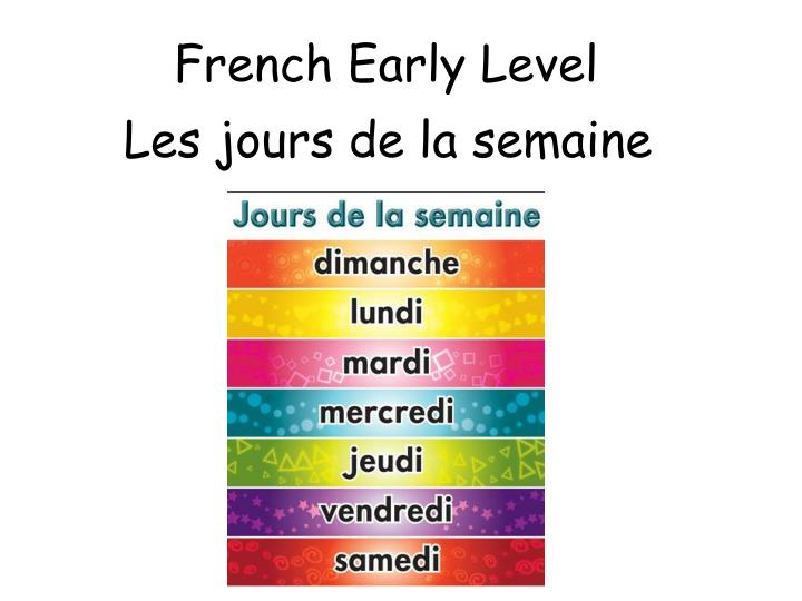 french early level n.