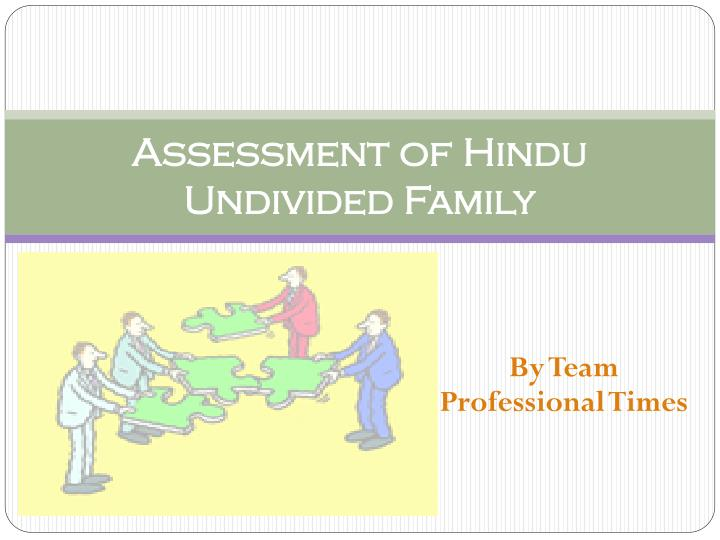 assessment of hindu undivided family n.