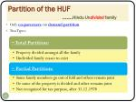 partition of the huf hindu un divided family