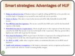 smart strategies advantages of huf