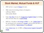 stock market mutual funds huf
