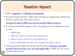 taxation aspect