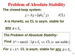 problem of absolute stability