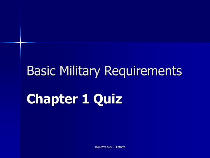 basic military requirements n.
