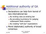 additional authority of ga