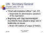 un secretary general charter arts 97 101