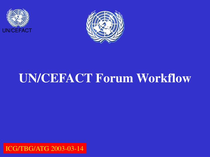 un cefact forum workflow n.