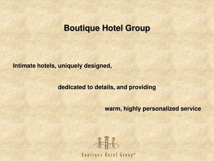 boutique hotel group n.