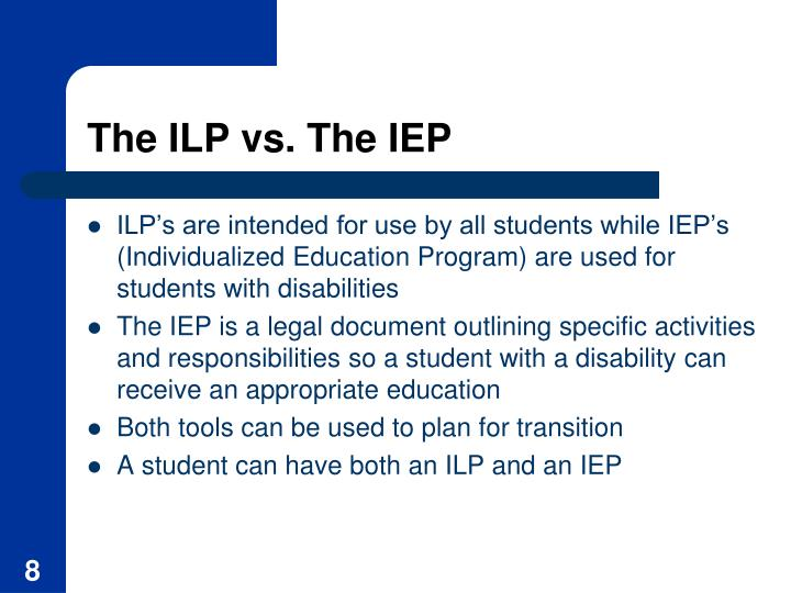 The ILP vs. The IEP