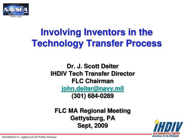 involving inventors in the technology transfer process n.
