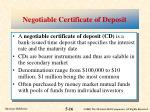 negotiable certificate of deposit