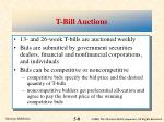 t bill auctions