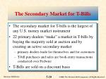 the secondary market for t bills