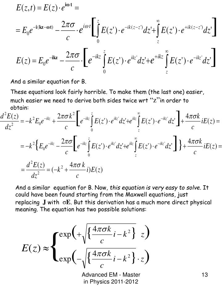 And a similar equation for B.