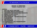 grade 12 meeting tuesday 5 february 2014