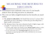 measuring the returns to education