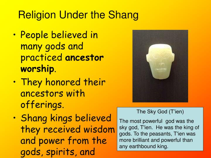 People believed in many gods and practiced
