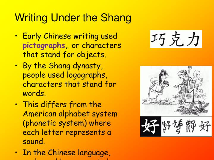 Early Chinese writing used