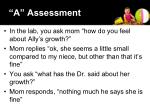 a assessment
