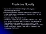 predictive novelty