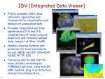 idv integrated data viewer
