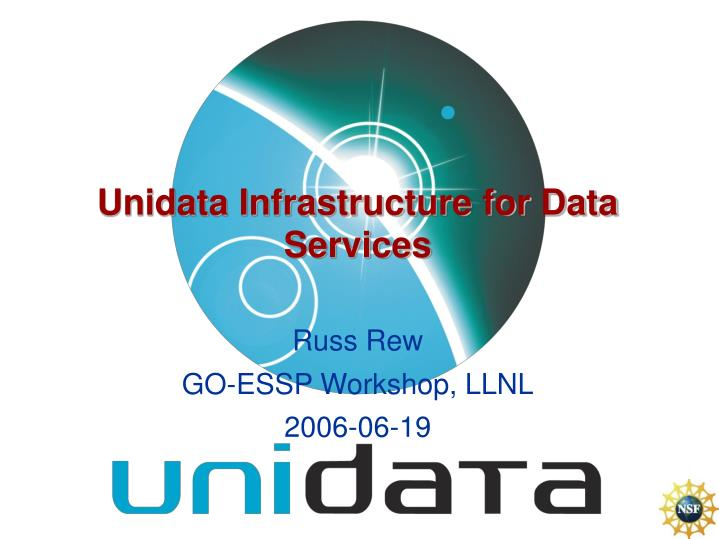 unidata infrastructure for data services n.