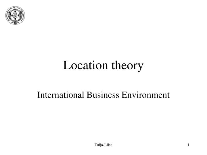 location theory n.