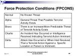 force protection conditions fpcons