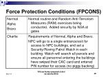 force protection conditions fpcons1