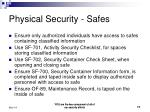 physical security safes