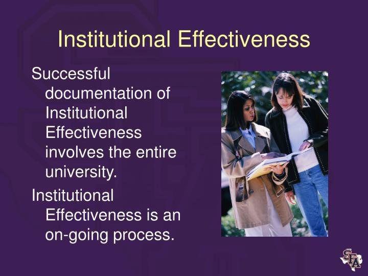 Institutional Effectiveness