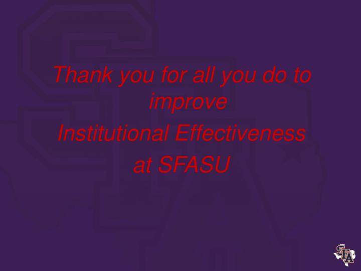 Thank you for all you do to improve