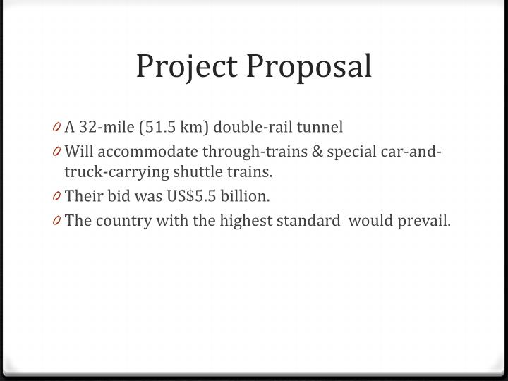 chunnel project case study Channel tunnel rail link case study: project  table 7: principal project dates   channel tunnel - trans manche link (later eurotunnel) was granted the.