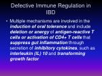 defective immune regulation in ibd1